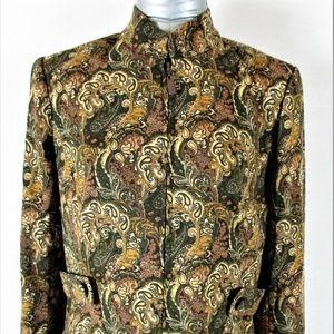 DRESSBARN womens Small LINED FULL ZIP jacket A5)E2